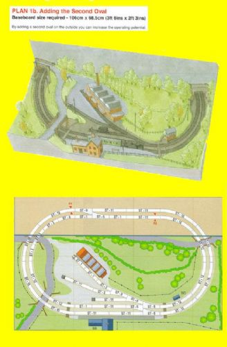 Peco New Plan 001b N Scale (Adding The Second Oval)